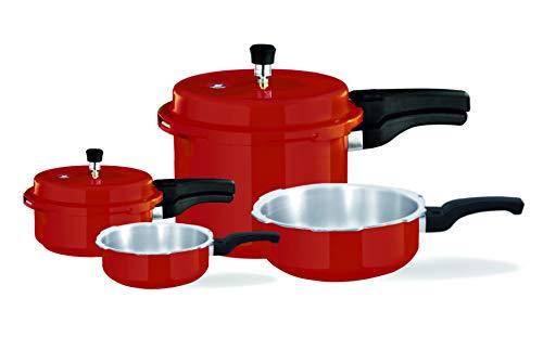 Surya Accent Aluminium Pressure Combo - Red Coloured, Capacity 1,...