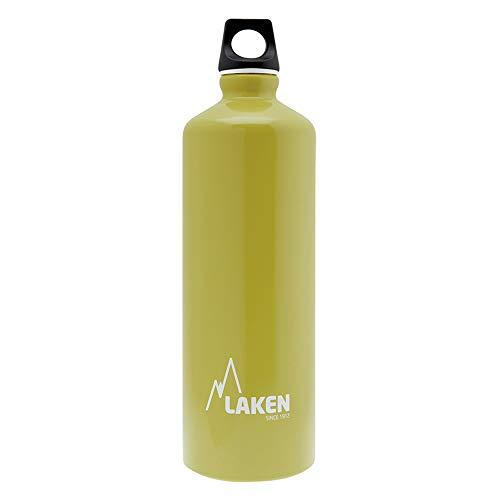 Laken Futura Alu Trinkflasche Schmale Öffnung Schraubdeckel mit Schlaufe 1L, Kaki