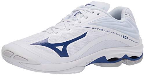 Mizuno Men's Wave Lightning Z6 Volleyball Shoe, White-Navy, 11.5 D US