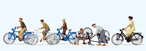 Preiser 10716 Jugendliche mit Fahrrad 1:87