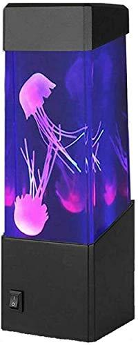 Lámpara LED de fantasía, lámpara de lava artificial para acuario, luz nocturna con cambio de color, regalo de Navidad y cumpleaños