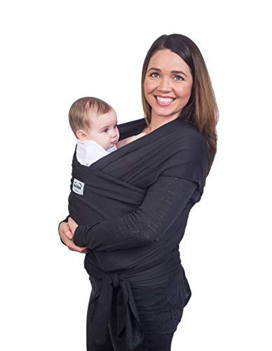 Black Baby Carrier Sling - Small to Plus Size Stretchy Baby Wrap - Nursing Cover…
