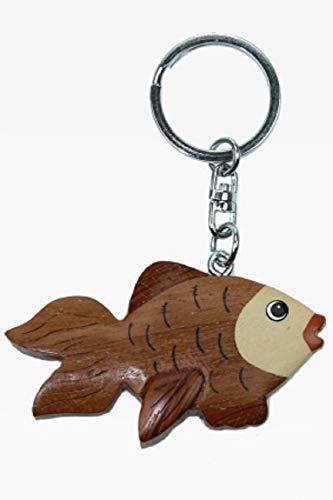 Cornelißen Schlüsselanhänger Goldfisch aus Holz und Metall, Fisch Fische Tier Tiere