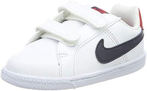 Nike Court Royale (TDV), Zapatillas de Gimnasia Bebé-Niños, Blanco (White/Obsidian/Univ Red/Gum Lt Brown 107), 19.5 EU