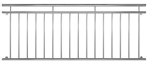 V2Aox Edelstahl Französischer Balkon Geländer Balkongeländer 90 x 100-225 cm, Breite:225 cm