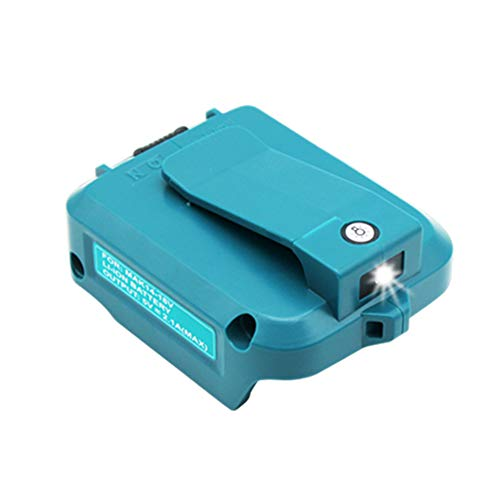 MANUFER 14~18V Li-Ion USB Ersatz Adapter für Makita 18V Akku DEBADP05 DEAADP05 USB Ladegerät Stromquelle Addon für Makita Akku BL1815 BL1830 BL1840 BL1850 BL1860 BL1430 BL1450 für Makita USB