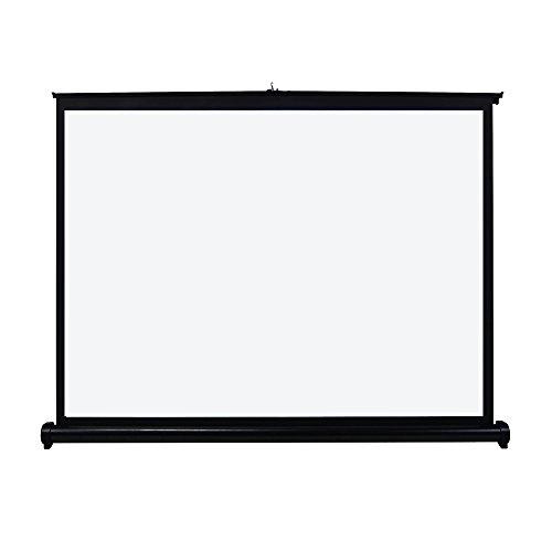 UNIC ポータブル プロジェクタースクリーン 自立式床置き型 吊り下げ ホームシネマプロジェクタ用 (40インチ-4:3)