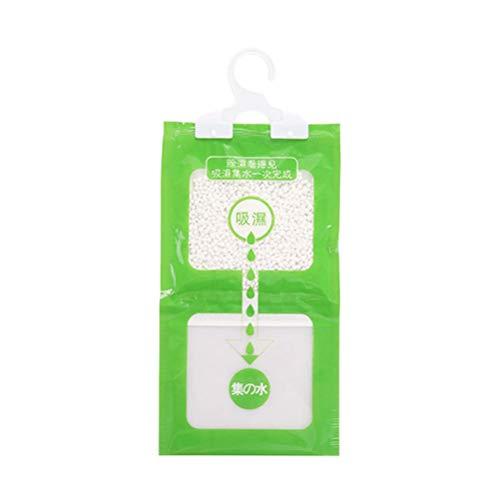 SUPVOX 4 Pezzi appesi armadietto deumidificatore Borse assorbitori di umidità Pacchetti per armadi Guardaroba (Verde)
