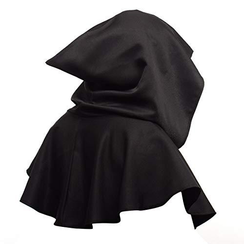 Ponacat Halloween Ghost Poncho Mittelalterliche Kapuze Kapuze Mantel Halloween Poncho Cosplay Kostüm für Männer & Frauen