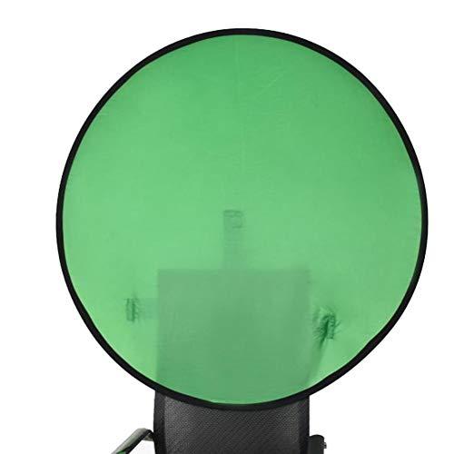 Pop Up Green Screen, Fotostudio Popup Hintergrund Grün Runde Hintergrund Panel Bildschirm Zusammenklappbar 110cm Stuhl Zucken Hintergrund Stoff für Webcam Video Streaming Gaming Foto