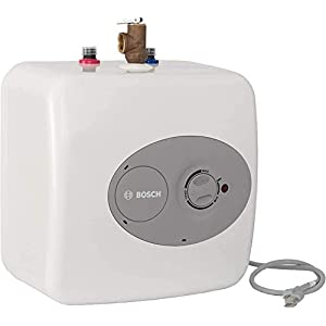 Bosch Electric Mini-Tank Water Heater Tronic 3000 T 4-Gallon (ES4) – Eliminate Time for Hot Water – Shelf, Wall or Floor…