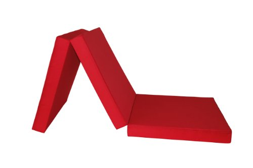Badenia Bettcomfort Guest Folding Mattress 3-invitados 196,5 x 65,5 cm red z bed futon mattress folding mattress travel bed mattress