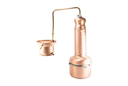 Distillatore a serpentina da 5 litri per oli essenziali
