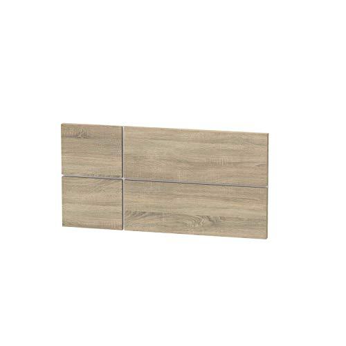 Muebles Pitarch Elsa Cabecero, Aglomerado de partículas y melamina de Alta Densidad, Roble Cambrian, 50 x 100 x 3,2 cm