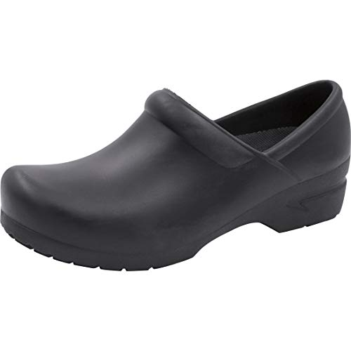 Anywear Guardian Angel Women's Healthcare Professional Footwear SR Antimicrobial Stepin, 8, Black