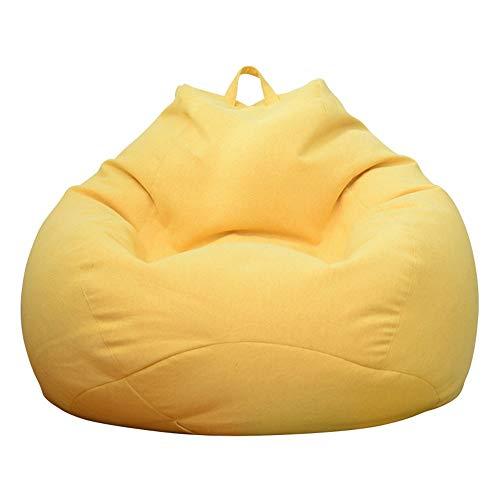 JOMSK Divano Comodo Semplice Sedia Bean Bag Riempito Grandi Mobili Riempito Beanbag Copertura Schiuma for Dormitorio Lavabile (Color : Red, Size : 80x90cm)