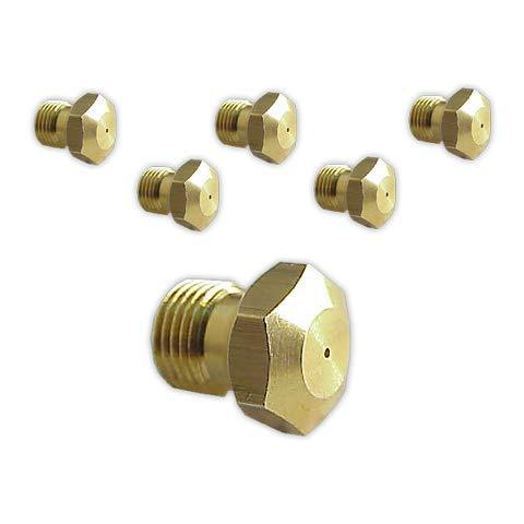 DOJA Industrial | Inyectores Cocina M-8 [kit 6] | Gas Butano Gas butano(0,60,0,65,0,75(2),0,80(2) mm)