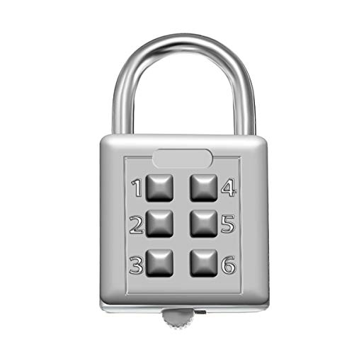 KCASA LK-21 6 Digit Push Button Combination Padlock Travel Suitcase Luggage Security Password Lock