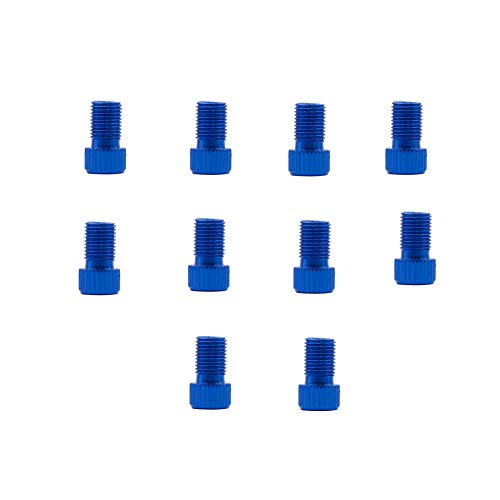 10Pcs Valve Adaptors Universal Bicycle Valve Adaptor With Seal Ring Adapter Converter Portable Inflate Tire Using Standard Pump For Bikes Cars blue,1