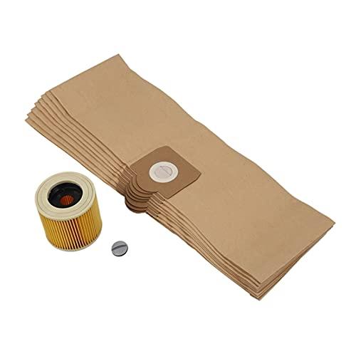 DA QING Accesorios de aspiradora Bolsas de Limpiador de filtros de reemplazo encajan para Karcher WD3 WD 3.300 M WD 3.200 WD3.500 SE 4001 SE 4002 WD3 P 6.959-130 Filtro de Bolsa Hogar (Color : Geel)