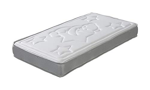 ECCOX - Colchón de Cuna Sweet Dreams - Altura 10 cm - Colchón Viscoelástico de Alta Densidad - Núcleo Sense Nature - Tratamiento Aloe Vera - Firmeza Media (60x120 cm)