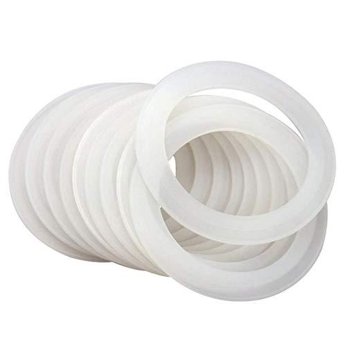 WUSHUN Juego de 10 juntas de repuesto, juntas tóricas de silicona, 70 mm/80 mm