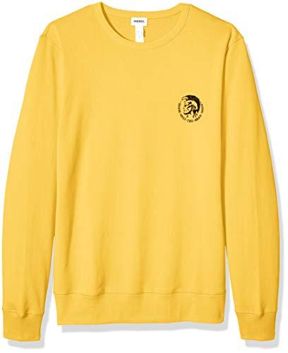 Diesel Herren UMLT-Willy Sweat-Shirt Pyjama-Oberteil (Top), gelb, X-Large
