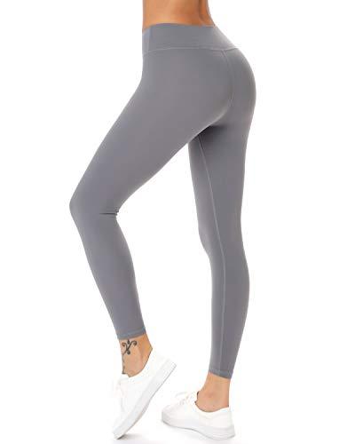 Teniux Laufhose Damen Sport Leggins für damen Ideal für Training, Radfahren, Laufen, Gymnastik, Yoga, etc (S-Grau, S (DE30-32))