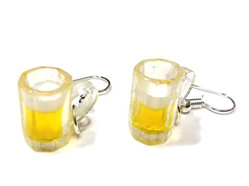 Miniblings Bierglas Maß Oktoberfest Wiesn Ohrringe - Handmade Modeschmuck I Bierkrug Bierseidel Pint - Ohrhänger Ohrschmuck versilbert