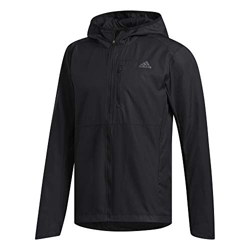 adidas Mens Own The Run Jacket, Black, XL