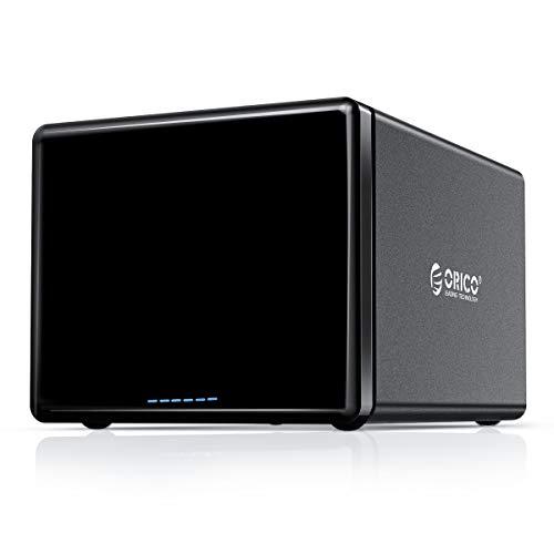 ORICO 5Bay External Raid Hard Drive Enclosure Magnetic Aluminum USB3.0 to SATA for 3.5inch HDD Tool Free Storage Case Support 7 RAID Modes Up to 80TB(5X16TB) - NS500RU3