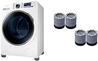 AioTio 4 Pcs PVC Washing Machine Foot Pads,Non Slip and Anti Vibration Machine Holder,Extend the Service Life of the Washi...
