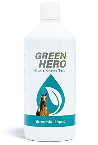 Green Hero Bronchial Liquid für Pferde mit Kräutern Bronchialkräuter Bronchialsaft zur Stärkung und Entlastung der Atemwege