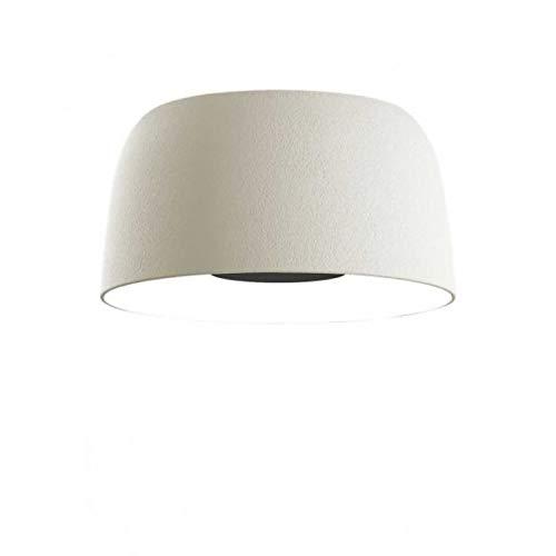 Lámpara de Techo o Pared LED 28,5W 700mA 2700K con Pantalla de Polietileno y difusor de Aluminio, Modelo Djembé 2 C 65,35, Color Blanco, 62 x 62 x 48,5 centímetros (Referencia: A681-132)