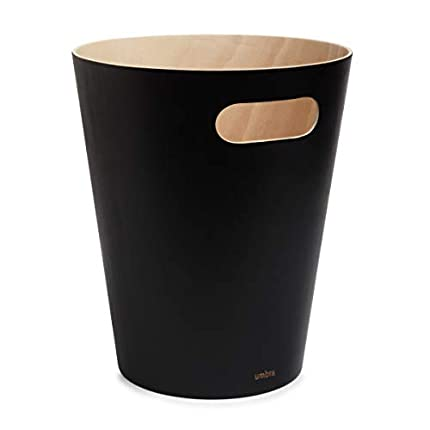 Umbra Woodrow Cesto de basura, con capacidad de 2 galones (7.5 l)