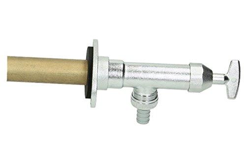SCHELL 039970399 Frostsichere Außenwandarmatur , Außenarmatur POLAR II , Messing Armatur (Installationsbausatz) mit automatischer Zwangsbelüftung ohne Rohrbelüfter , DN15G 1,2AG,Ø 15mm, Mattchrom