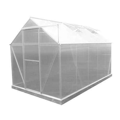 GARDIUN KIS19005 - Invernadero Lunada Policarbonato/Aluminio 5 Módulos 6 m² 310x193x190 cm...