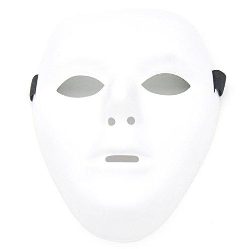 Kvvdi Male Scary White Blank Face Masks for Halloween DIY