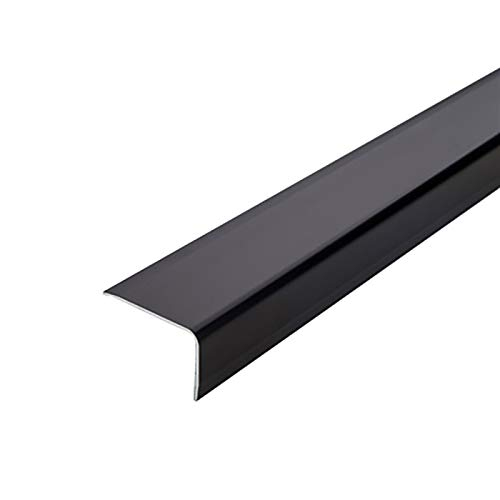 NEHARO Escalera Edge Red Trim 1.5m Longitud L Forma de L de Aluminio Anti resbalón Sin Deslizamiento Rose 35x20mm ángulo Escaleras de Borde Perfiles de escaleras 2 PCS Piso