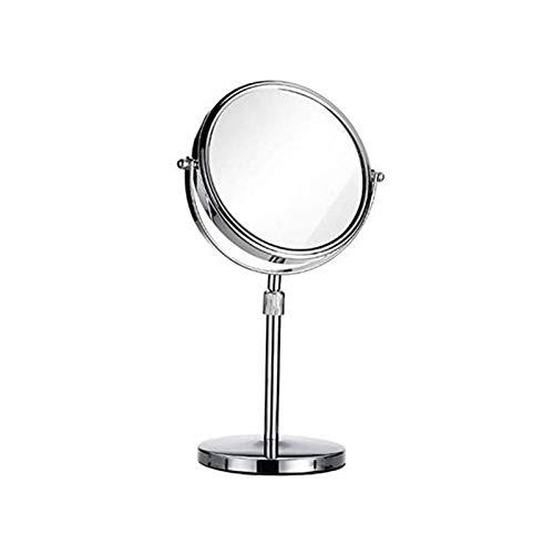 AYYEBO Espejo de Maquillaje Redondo, 1: 3X HD Doble Cara Espejos Maquillaje Rotación de 360 ° - 6 Pulgadas 7 Pulgadas 8 Pulgadas (Size : 6 Inch)
