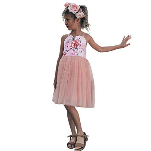 HEETEY Kleid Rock Kleinkind scherzt Baby-Kleid Blumenspleiß-Tüll Party Pageant Prinzessin Kleider Blumen Kleid Sommerkleid Outfit Kleidung