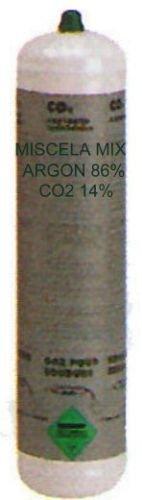 BOMBOLA GAS MISCELA MIX (ARGON - CO2) 1Lit NON RICARICABILE X FILO CONTINUO BOMBOLE USA E GETTA ATTACCO M10x1Rh