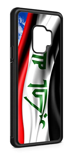 Kompatibel mit Samsung Galaxy S8 Silikon Handyhülle Flexibles Slim Case Irak Fahne Flagge Schwarz