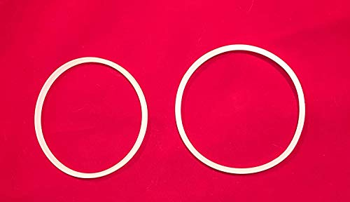 """Suitable For Bella Personal Size Rocket Blender Replacement Parts (Two gaskets 3"""" Diameter) White O-ring Compatible with Magic Bullet 250W"""