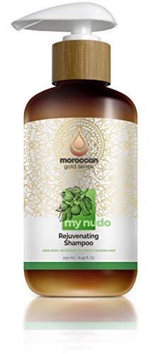 Moroccan Gold Series My NuDo Rejuvenating Shampoo – Shampoo for Thinning Hair and Hair Loss – Hair Thickening Shampoo with Argan Oil, Caffeine, Arginine – Cleanse Scalp & Strengthen Hair, 8.45oz