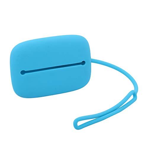 Yinew - Monedero de Silicona para Colgar Monedas, fácil de Transportar, para Cambio de Dinero, Tarjetero, audífonos para Mujeres y Hombres Azul Azul As Description