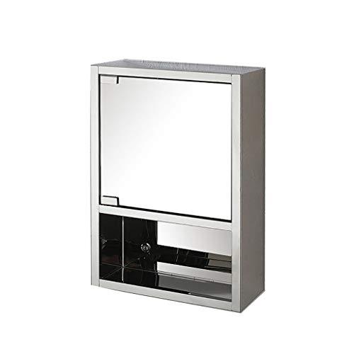 Wandgemonteerde spiegel kabinet, badkamer spiegel medicijnkastje met gespiegelde deuren en planken, Home Fashions kast kast (grootte: 355x530x160mm)