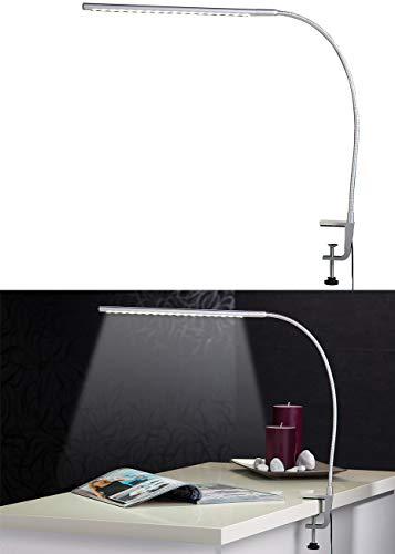 Lunartec LED Schreibtischlampe: Voll schwenkbare LED-Schreibtisch-Lampe aus Metall (Arbeitsleuchte Schreibtisch)