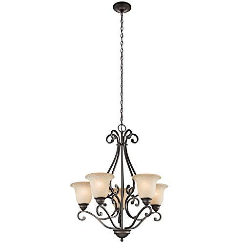 Kichler 43224OZ Camerena Chandeliers Lighting, Olde Bronze 5-Light (27' W x 31' H) 500 Watts