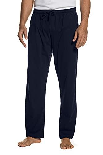 bis 8XL, Pyjama-Hose aus 100% Baumwolle, Schlafanzug-Hose, Sweatpants mit elastischem Bund Navy 3XL 708406 76-3XL